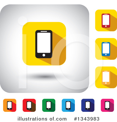Smart Phone Clipart #1343983 by ColorMagic