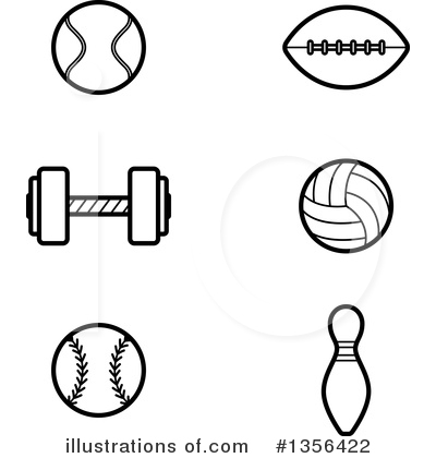 Football Clipart #1356422 by Cory Thoman
