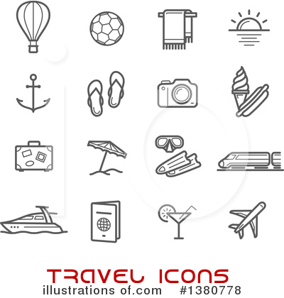 Beach Clipart #1380778 by Vector Tradition SM