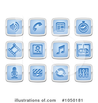 Royalty-Free (RF) Icons Clipart Illustration by AtStockIllustration - Stock Sample #1050181
