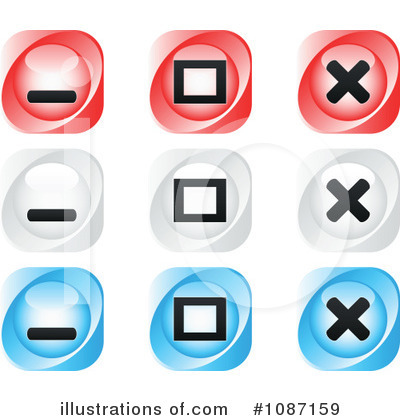 Royalty-Free (RF) Icons Clipart Illustration by Andrei Marincas - Stock Sample #1087159