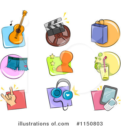 Royalty-Free (RF) Icons Clipart Illustration by BNP Design Studio - Stock Sample #1150803