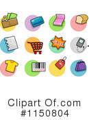 Royalty-Free (RF) Icons Clipart Illustration #1150804