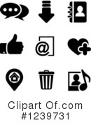 Icons Clipart #1239731 by Vector Tradition SM