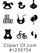 Royalty-Free (RF) Icons Clipart Illustration #1239734