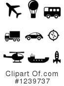 Royalty-Free (RF) Icons Clipart Illustration #1239737
