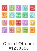 Icons Clipart #1258666 by AtStockIllustration