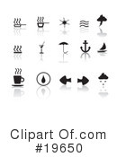 Royalty-Free (RF) Icons Clipart Illustration #19650