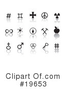 Royalty-Free (RF) Icons Clipart Illustration #19653
