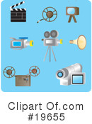 Royalty-Free (RF) Icons Clipart Illustration #19655