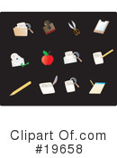 Royalty-Free (RF) Icons Clipart Illustration #19658