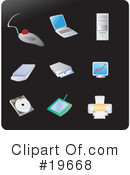 Royalty-Free (RF) Icons Clipart Illustration #19668