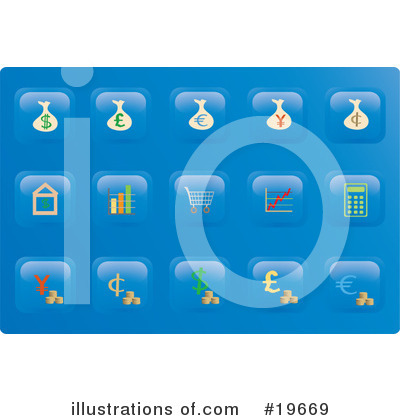 Royalty-Free (RF) Icons Clipart Illustration by Rasmussen Images - Stock Sample #19669