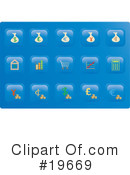 Royalty-Free (RF) icons Clipart Illustration #19669