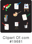 Royalty-Free (RF) Icons Clipart Illustration #19681