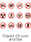 Royalty-Free (RF) Icons Clipart Illustration #19766