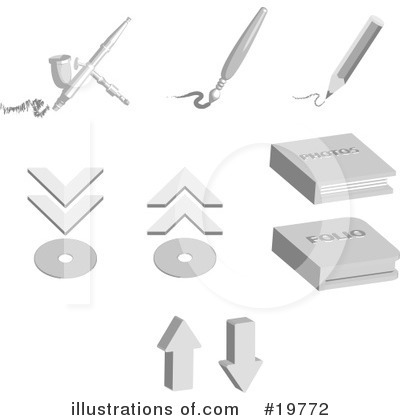 Royalty-Free (RF) Icons Clipart Illustration by AtStockIllustration - Stock Sample #19772