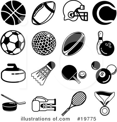 American Football Clipart #19775 by AtStockIllustration