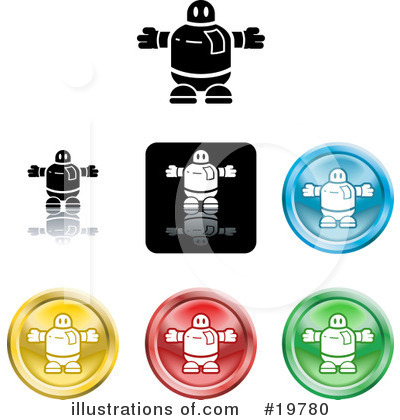Royalty-Free (RF) Icons Clipart Illustration by AtStockIllustration - Stock Sample #19780
