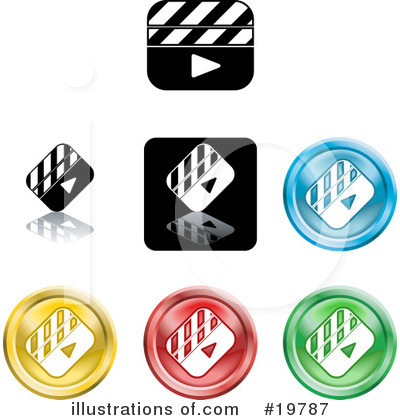 Royalty-Free (RF) Icons Clipart Illustration by Geo Images - Stock Sample #19787