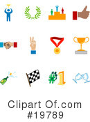 Royalty-Free (RF) Icons Clipart Illustration #19789