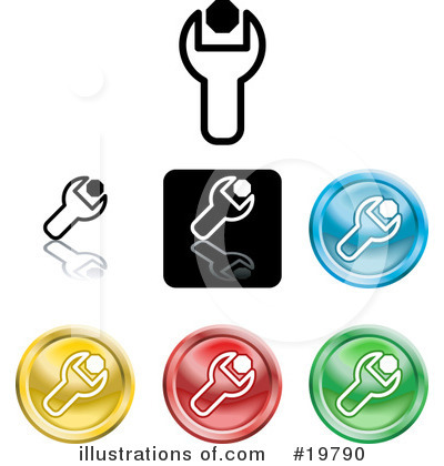 Royalty-Free (RF) Icons Clipart Illustration by AtStockIllustration - Stock Sample #19790