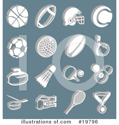 American Football Clipart #19796 by AtStockIllustration