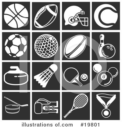 Tennis Ball Clipart #19801 by AtStockIllustration