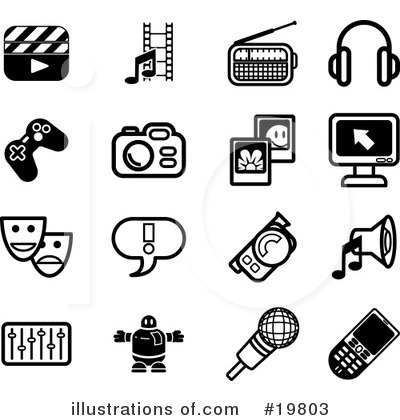 Royalty-Free (RF) Icons Clipart Illustration by AtStockIllustration - Stock Sample #19803