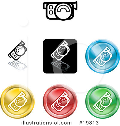 Royalty-Free (RF) Icons Clipart Illustration by AtStockIllustration - Stock Sample #19813