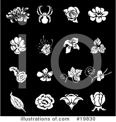Flowers Clipart #19830 by AtStockIllustration