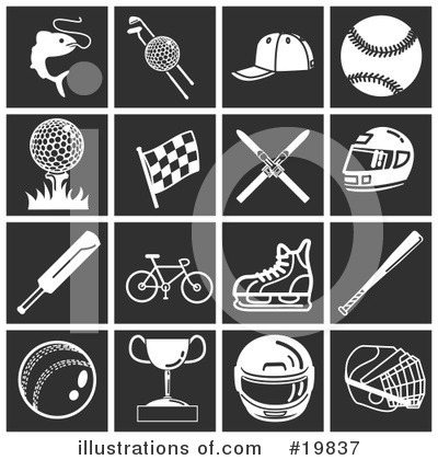Royalty-Free (RF) Icons Clipart Illustration by AtStockIllustration - Stock Sample #19837
