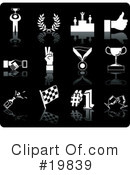 Royalty-Free (RF) Icons Clipart Illustration #19839