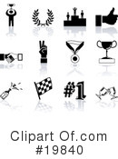 Royalty-Free (RF) Icons Clipart Illustration #19840