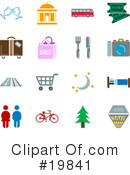 Royalty-Free (RF) Icons Clipart Illustration #19841