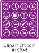 Royalty-Free (RF) Icons Clipart Illustration #19846
