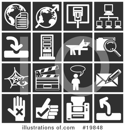 Royalty-Free (RF) Icons Clipart Illustration by AtStockIllustration - Stock Sample #19848