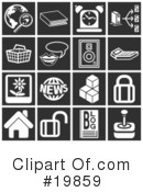 Royalty-Free (RF) Icons Clipart Illustration #19859