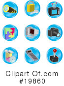 Royalty-Free (RF) Icons Clipart Illustration #19860