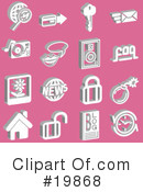 Royalty-Free (RF) Icons Clipart Illustration #19868