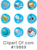 Royalty-Free (RF) icons Clipart Illustration #19869