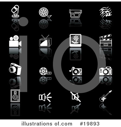 Video Camera Clipart #19893 by AtStockIllustration