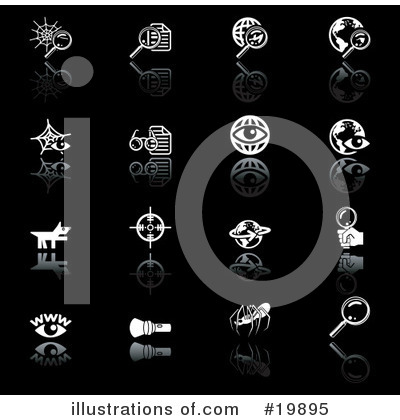 Royalty-Free (RF) Icons Clipart Illustration by AtStockIllustration - Stock Sample #19895