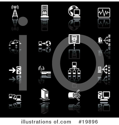 Royalty-Free (RF) Icons Clipart Illustration by AtStockIllustration - Stock Sample #19896