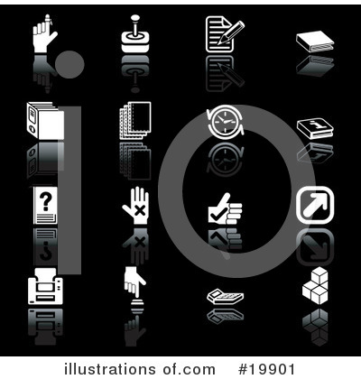 Royalty-Free (RF) Icons Clipart Illustration by AtStockIllustration - Stock Sample #19901