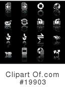 Royalty-Free (RF) Icons Clipart Illustration #19903