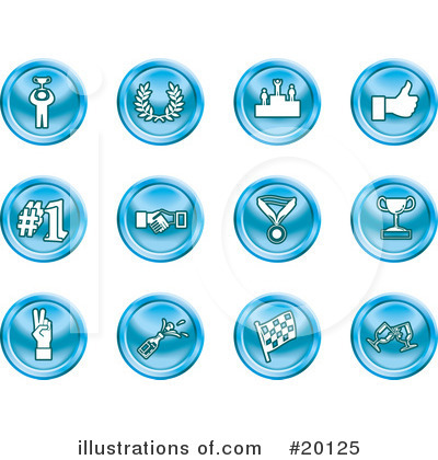 Royalty-Free (RF) Icons Clipart Illustration by AtStockIllustration - Stock Sample #20125