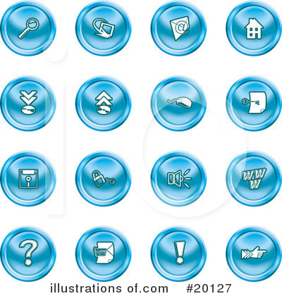 Royalty-Free (RF) Icons Clipart Illustration by AtStockIllustration - Stock Sample #20127