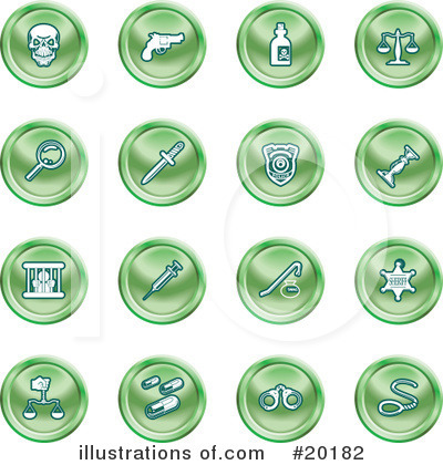 Royalty-Free (RF) Icons Clipart Illustration by AtStockIllustration - Stock Sample #20182