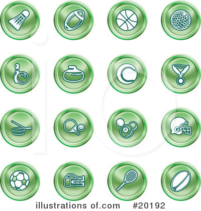 Tennis Ball Clipart #20192 by AtStockIllustration